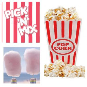 Popcorn candy floss pick n mix sweets